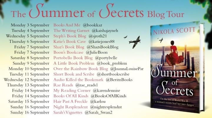 Summer of Secrets Blog Tour Poster