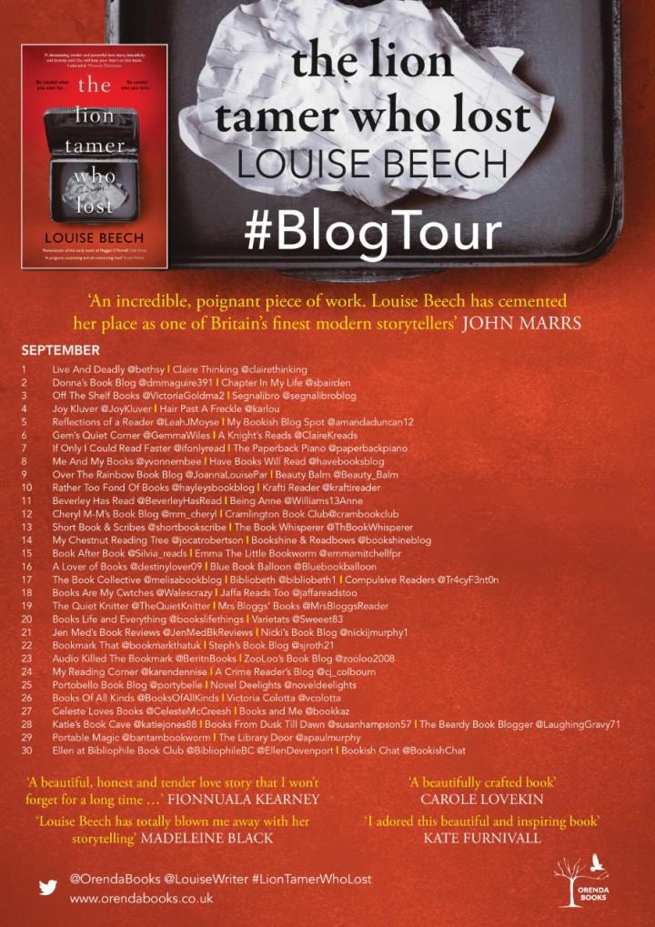 The Lion Tamer Blog Tour Poster Final